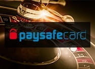 A casino image showing the paysafecard logo.