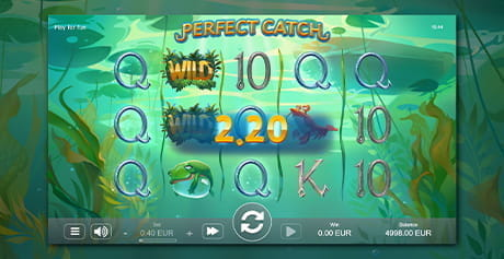 The underwater theme with a crab and frog in the Perfect Catch slot game from STHLMGAMING
