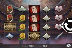Image of the Phantom's Curse slot game on a mobile device.