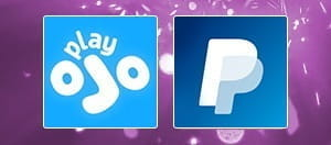 The PlayOJO and PayPal logos