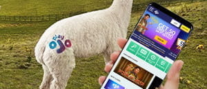 The PlayOJO mobile casino on an iPhone