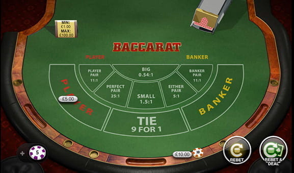 The Playtech version of online Baccarat