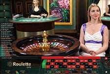 Playing roulette at the Playzee live casino tables