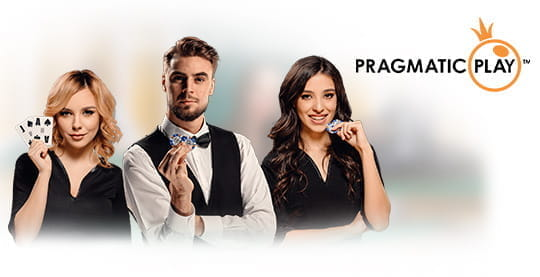A live casino dealer from Pragmatic Play.