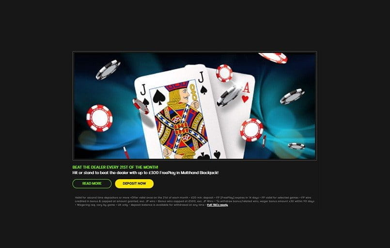 The 888casino 21st of the month promotion.