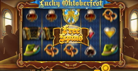 The free spins feature in Lucky Oktoberfest by Red Tiger Gaming.