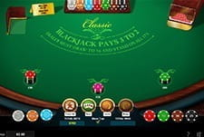 Classic Blackjack Game at Regent Casino