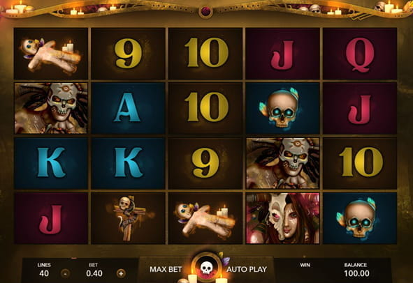 The rows and reels of the Rite slot game from Mascot