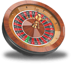 A roulette wheel graphic image