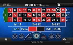 Mr Green app includes Roulette Touch