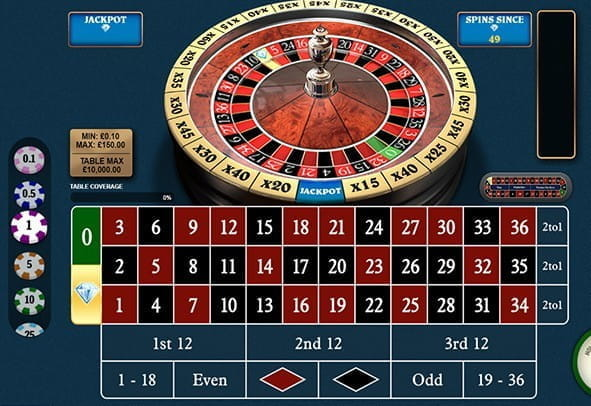 A demo of the 1000 Diamond Bet Roulette game from Playtech.