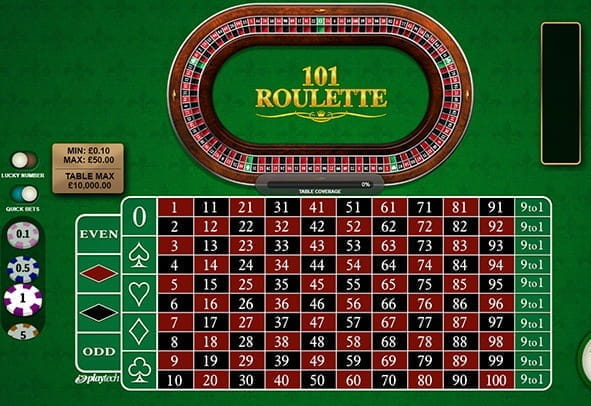 Free demo of the 101 Roulette game from Playtech.