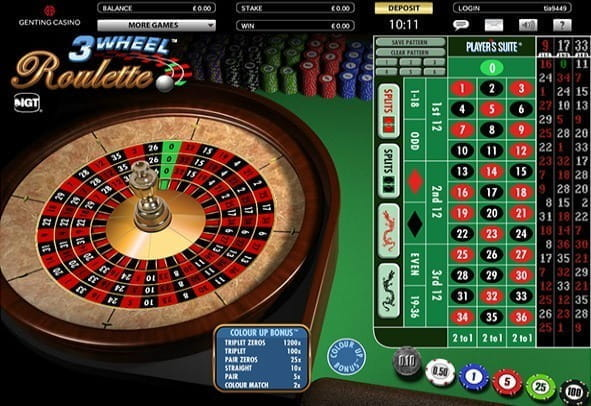 Embedded game cover image of a 3 Wheel Roulette game