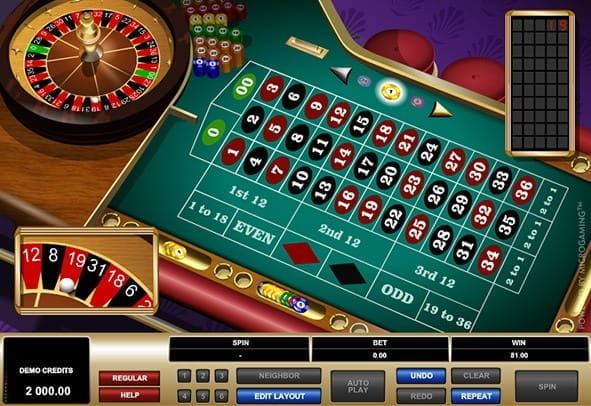 Image previewing the American Roulette game from Microgaming.