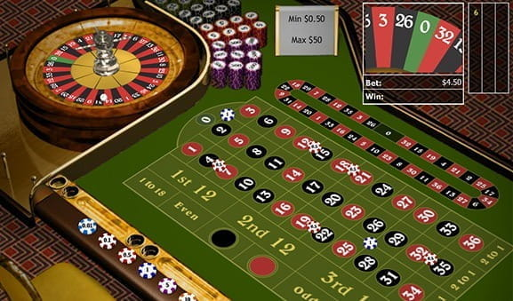 An in-game image of the Club Roulette Game from Playtech.