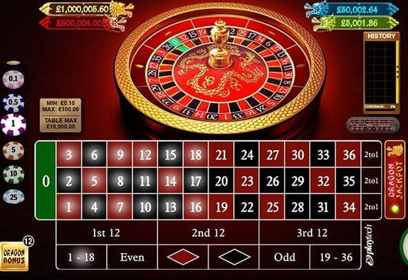 Free demo of Dragon Jackpot Roulette from Playtech
