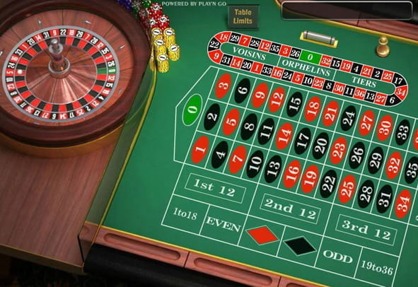 English Roulette free demo version.
