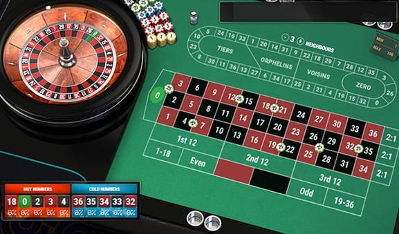 An in-game image of the European Roulette Pro Game from Play'n GO