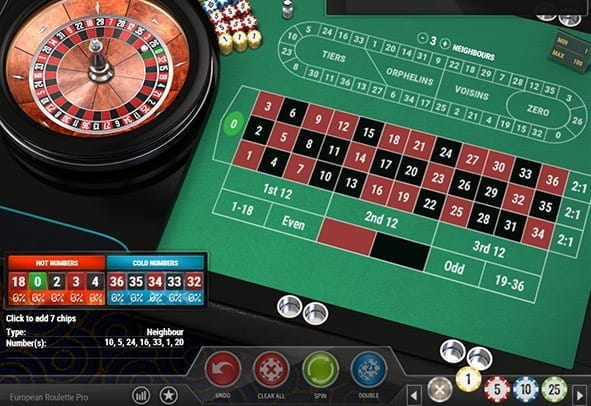 Free demo of the European Roulette Pro game from Play'n GO.