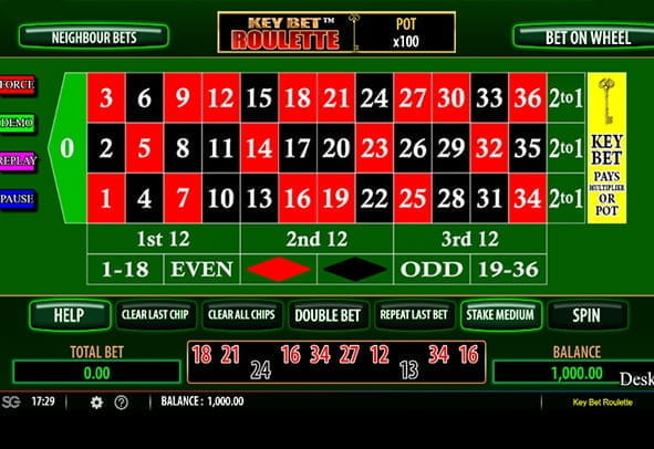 Preview of Key Bet Roulette game from Scientific Games.