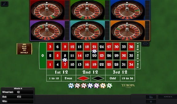 Play Multi Wheel Roulette Online at Casino.com India