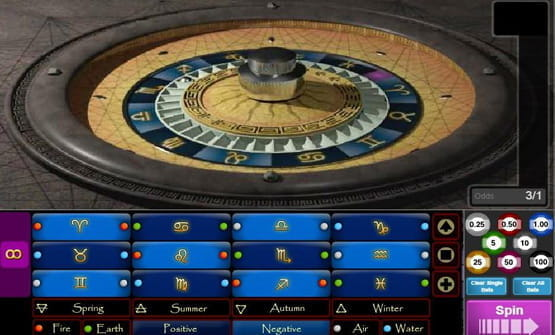 Astro Roulette online roulette game from 1x2gaming.