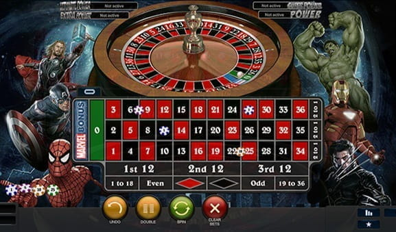 Play Marvel Roulette by Playtech at Ladbrokes Casino