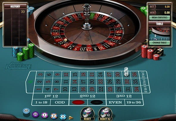 A demo of the Premier Roulette Diamond Edition game from Microgaming.