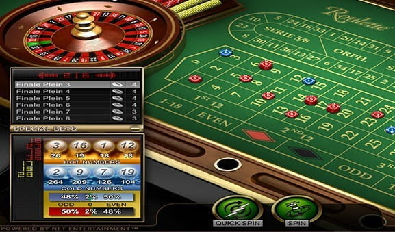 A screenshot of the game Roulette Advanced by NetEnt