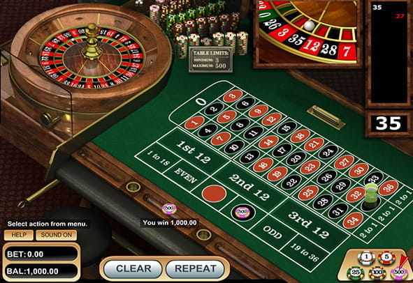 Free demo of VIP European Roulette