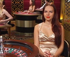 Live roulette being played at Roxy Palace.