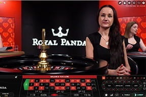 A roulette live table at Royal Panda.