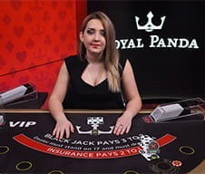 An image of a live dealer at Royal Panda casino.