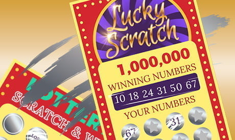 Scratch cards, advertising winning numbers.