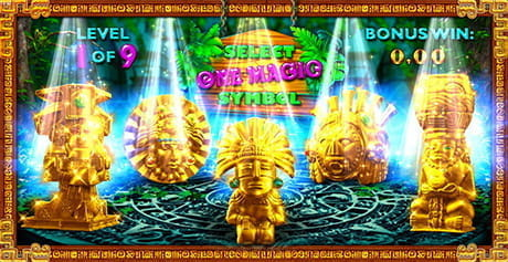 The bonus game in Secret Temple by SlotVision.