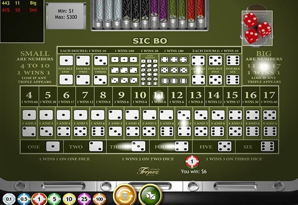 A preview image of a sic bo online game.
