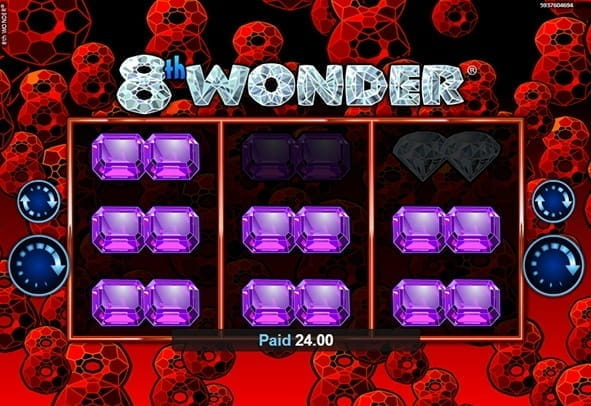 In-game action from the 8th Wonder slot game from Realistic Games