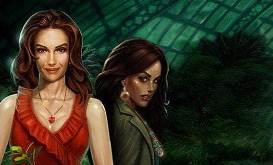 The main characters from the Immortal Romance slot.