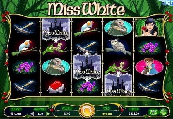 Play an online demo of slot Miss White for free here