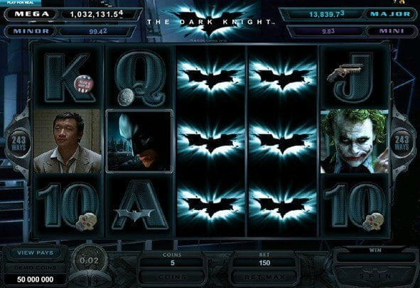 Play The Dark Knight for real money here