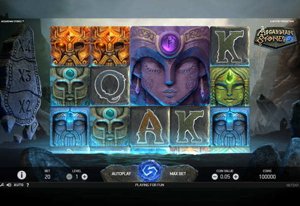 Asgardian Stones slot game demo version.