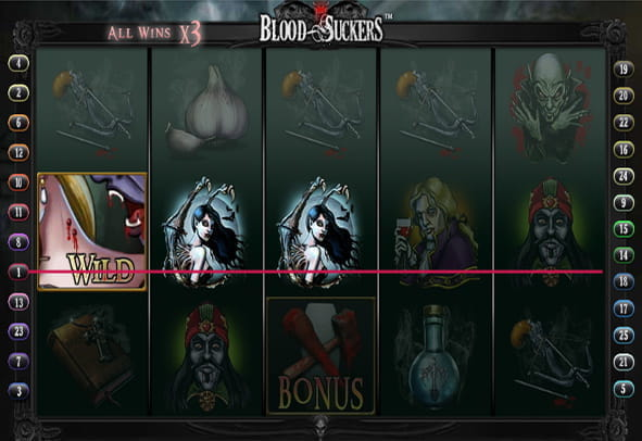 Blood Suckers online slot during a game