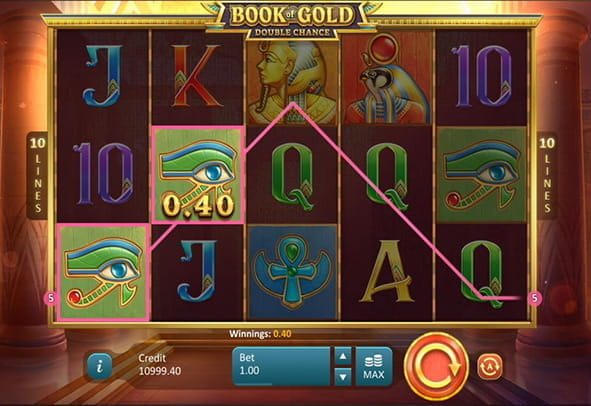 See a winning round of Book of Gold: Double Chance