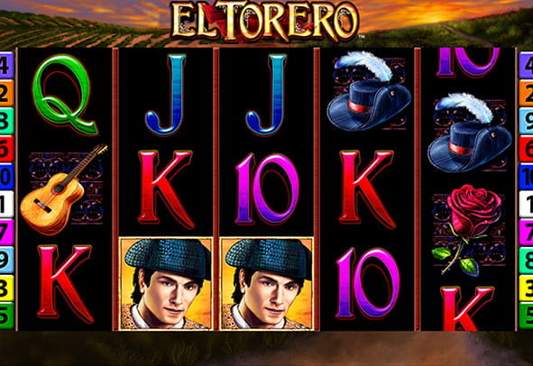 The El Torero demo game rows and reels.