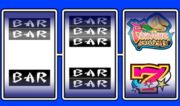 The simple symbols from the classic fruit machine Fortune Cookie slot
