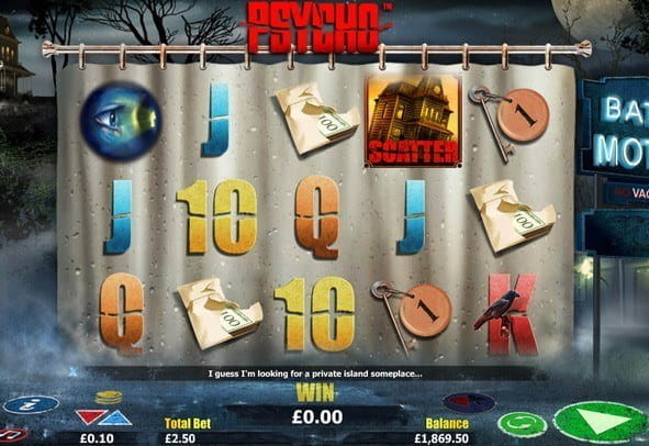 Free play version of the slot Psycho, including all the special features