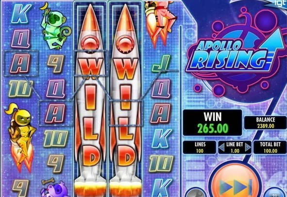 Play a free version of Apollo Rising from IGT - spin for free to test out the game