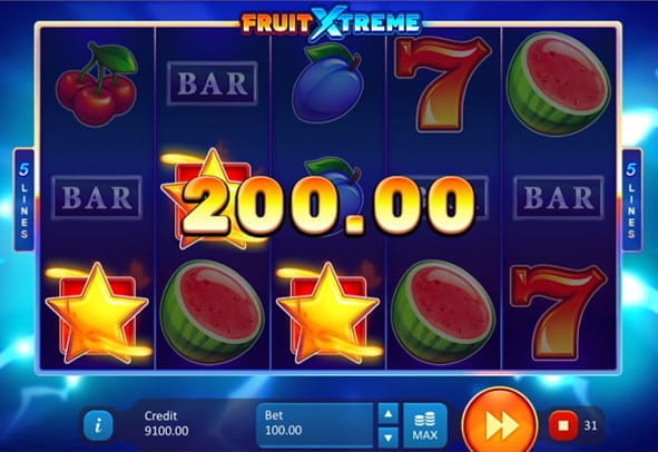 Demo of Fruit Xtreme, one of the latest fruit slot machines from Playson.