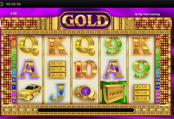 Gold online slot with luxurious symbols.