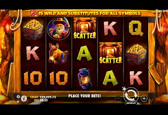 Play Gold Rush slot online for free